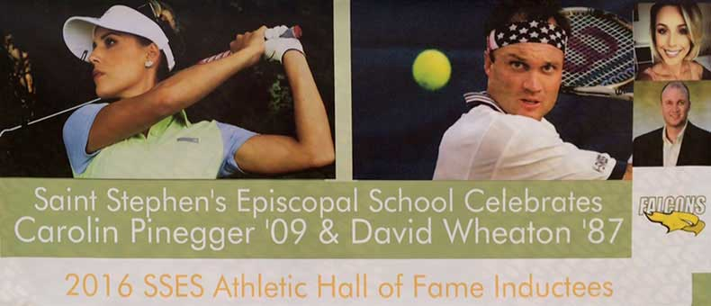 2016 Athletic Hall of Fame banner